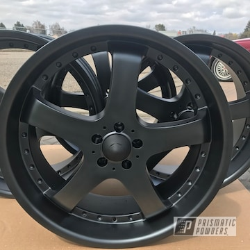 Black Powder Coated Wheels