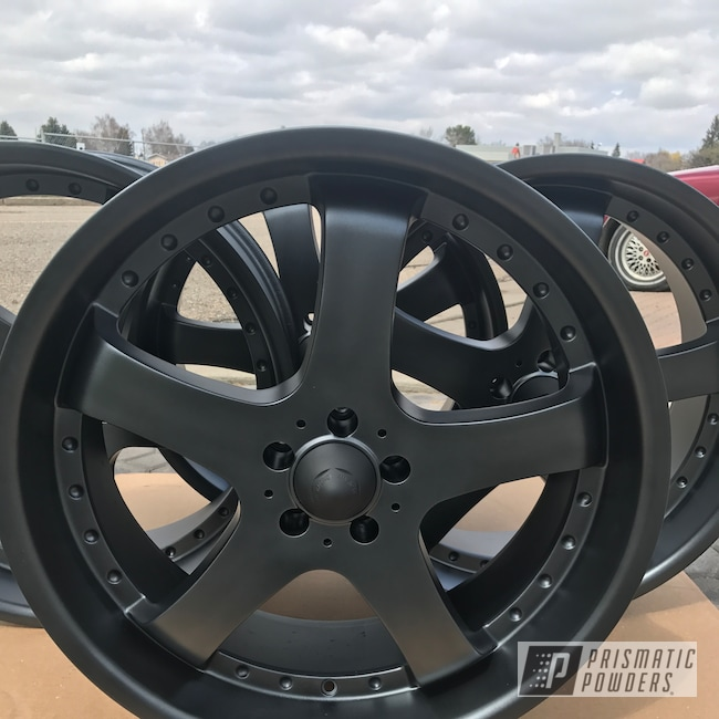 Powder Coating: Wheels,Automotive,STERLING BLACK UMB-1204,Custom Wheels,20""
